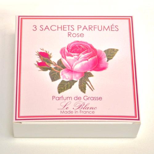 Geschenk Box Sachet 3er Rose