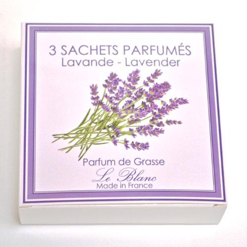 Geschenk Box Sachet 3er Lavendel