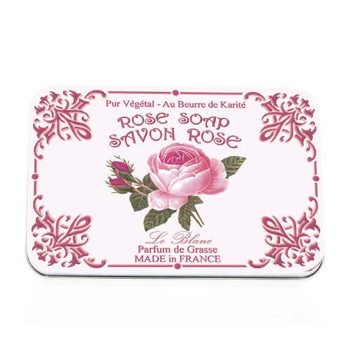 Naturseife 6x25 g Tin Box Rose