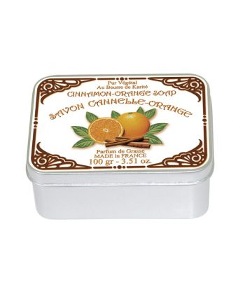 Naturseife 100 g Tin Box Le Blanc Cinnamon Orange