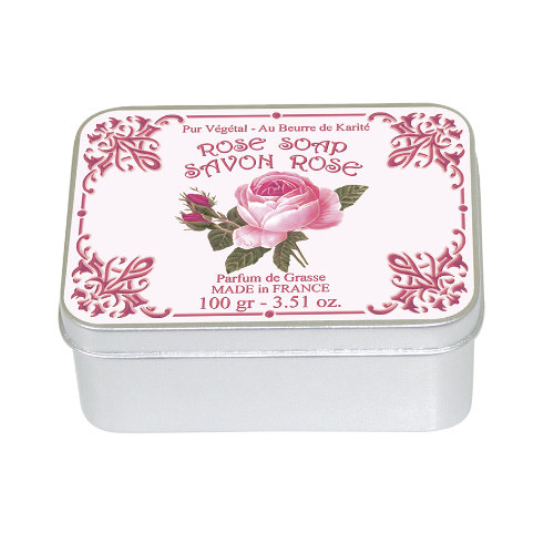 Naturseife 100 g Tin Box  Rose