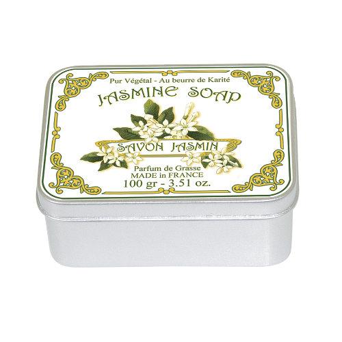 Naturseife 100 g Tin Box  Jasmin