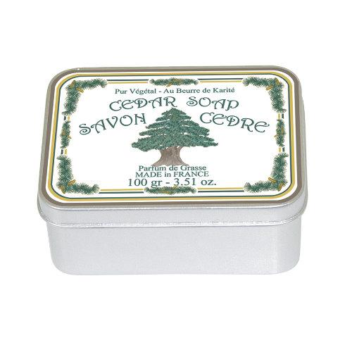 Naturseife 100 g Tin Box Cedar