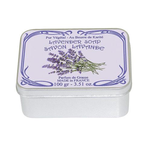 Naturseife 100 g Tin Box Lavendel