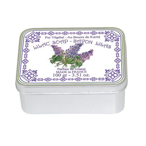 Naturseife 100 g Tin Box Lilac Flieder