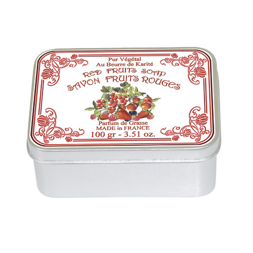 Naturseife 100 g Tin Box Red Fruits