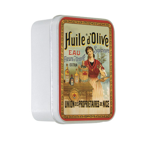 Naturseife 100 g Tin Box Huile d´Olive