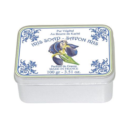 Naturseife 100 g Tin Box Iris Poudré