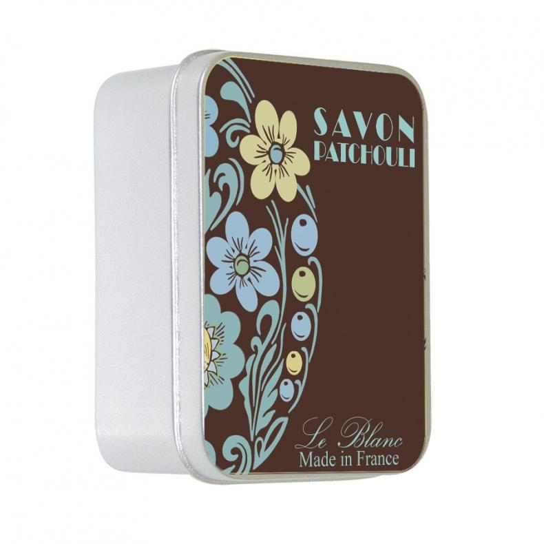 Naturseife 100 g Tin Box Le Blanc Patchouli