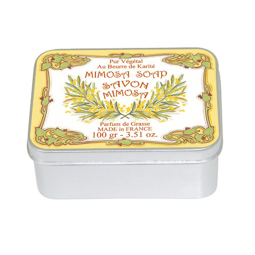 Naturseife 100 g Tin Box Mimosa