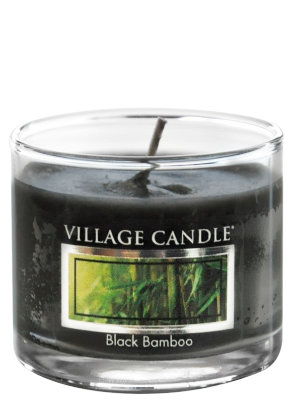 Mini Glass Votive Black Bamboo