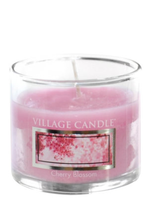 Mini Glass Votive Cherry Blossom