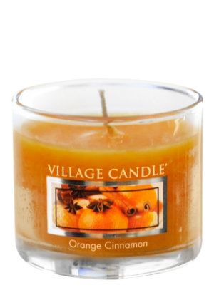 Mini Glass Votive Orange Cinnamon