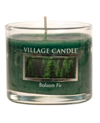 Mini Glass Votive Balsam Fir