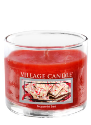 Mini Glass Votive Peppermint Bark