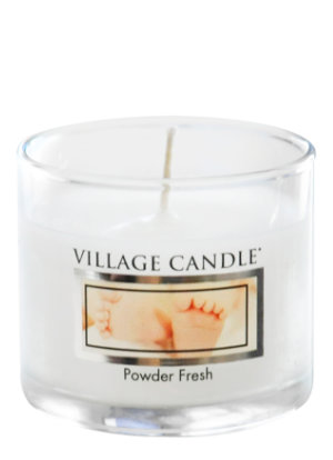 Mini Glass Votive Powder Fresh