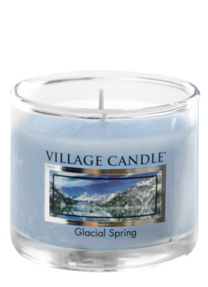 Mini Glass Votive Glacial Spring