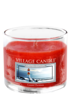 Mini Glass Votive Coastal Christmas