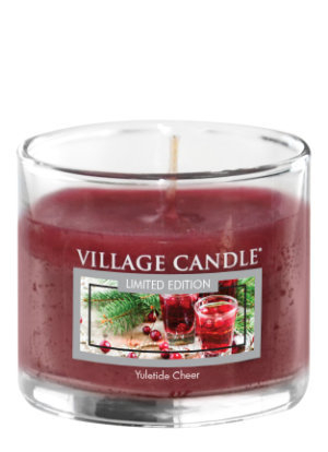 Mini Glass Votive Yuletide Cheer