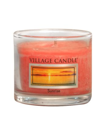 Mini Glass Votive Sunrise