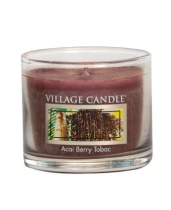 Mini Glass Votive Acai Berry Tabac