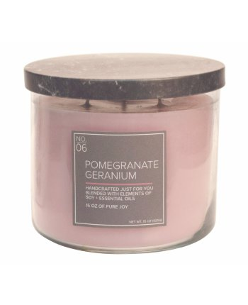 Natural Bowl 3-Wick 425 g Pomegranate Geranium