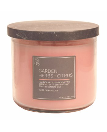 Natural Bowl 3-Wick 425 g Garden Herbs & Citrus