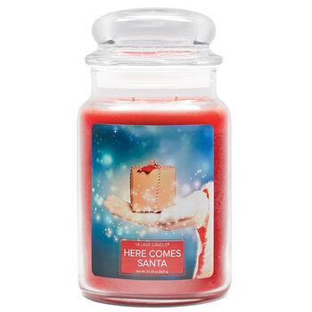 FANTASY Jar Dome large Here Comes Santa