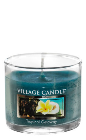 Mini Glass Votive Tropical Getaway