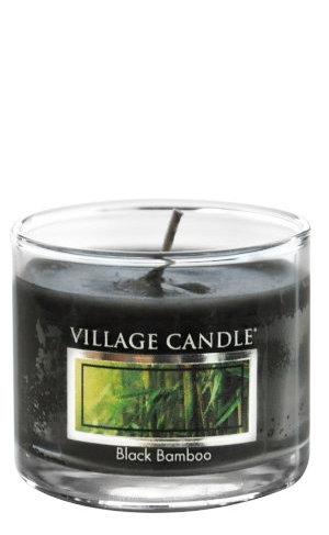 Mini Glass Votive Black Bamboo