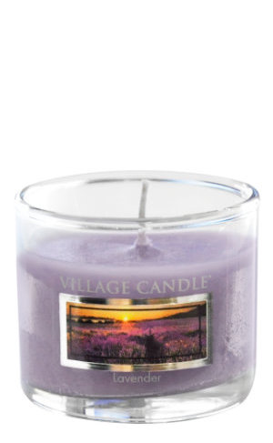 Mini Glass Votive Lavender