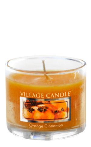 Mini Glass Votive Orange Cinnamon