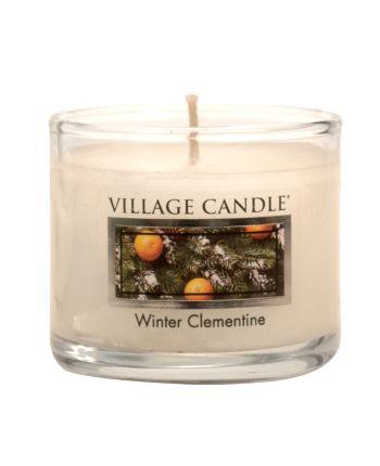 Mini Glass Votive Winter Clementine