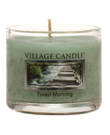 Mini Glass Votive Forest Morning