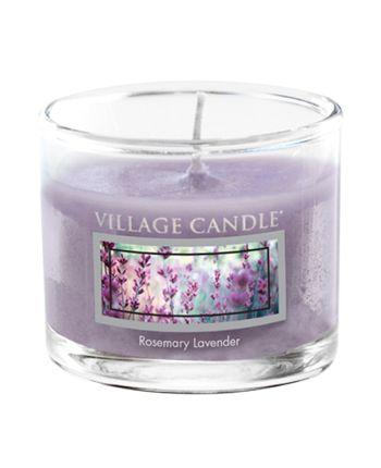 Mini Glass Votive Rosemary Lavender
