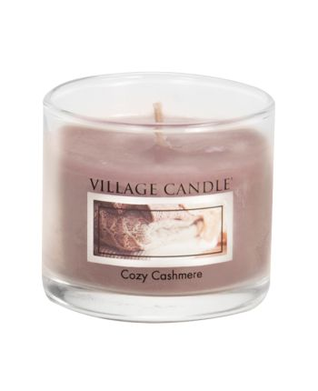 Mini Glass Votive Cozy Cashmere