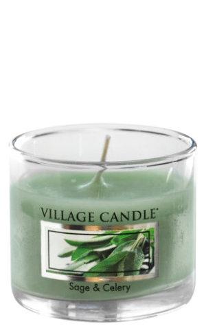 Mini Glass Votive Sage & Celery