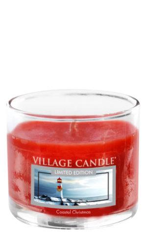 Mini Glass Votive Coastal Christmas
