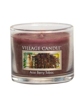 Mini Glass Votive Acai Berry Tabac