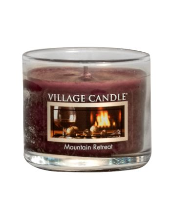 Mini Glass Votive Mountain Retreat