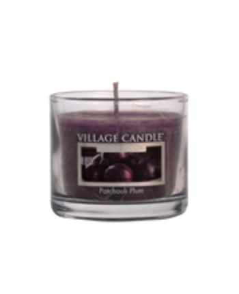 Mini Glass Votive Patchouli Plum LE