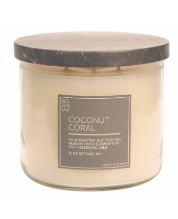 Natural Bowl 3-Wick 425 g Coconut Coral
