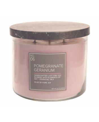 Natural Bowl 3-Wick 425 g Pomegranate Geranium