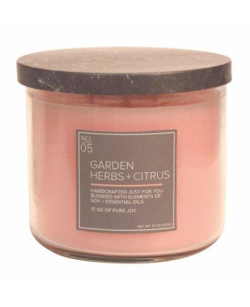 Natural Bowl 3-Wick 425 g Garden Herbs & Citrus